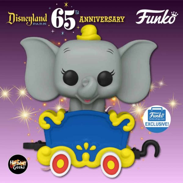 Funko Pop! Trains: Disneyland Resort 65th Anniversary – Dumbo on the Casey Jr. Circus Train Attraction Funko Pop! Vinyl Figure- Funko Shop Exclusive