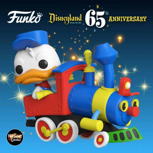 Funko Pop! Trains: Disneyland Resort 65th Anniversary - Donald Duck On The Casey Jr. Circus Train Attraction Funko Pop! Vinyl Figure