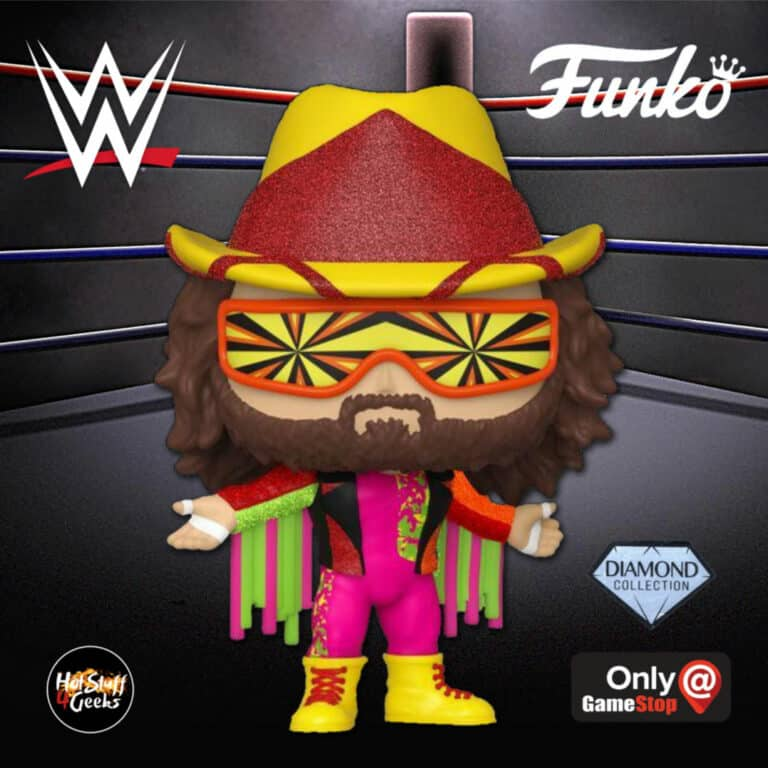 Funko Pop! WWE: NWSS – Macho Man Randy Savage Diamond Collection (Glitter) Funko Pop! Vinyl Figure - GameStop Exclusive