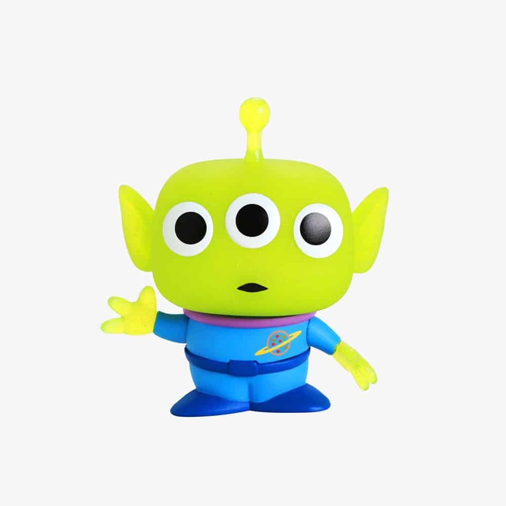 Funko Pop! and Tee: Disney Pixar Toy Story - Pizza Planet Alien Translucent Glitter  Funko Pop! Vinyl Figure and T-Shirt Bundle - BoxLunch Exclusive