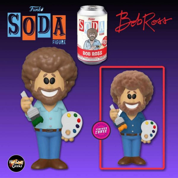 Funko Vinyl Soda: Bob Ross- Bob Ross with Flocked Chase Variant Vinyl Soda Figure