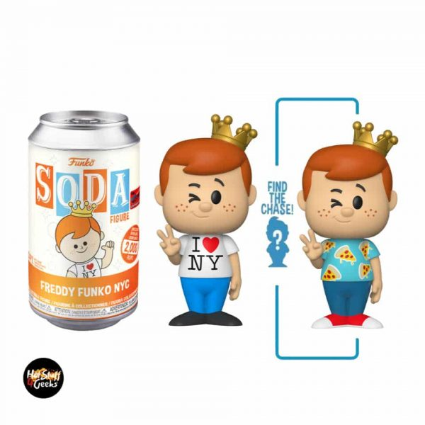 Funko Vinyl Soda: Funko- Freddy Funko with NYC Tee With Chase Variant - NYCC 2020 Exclusive