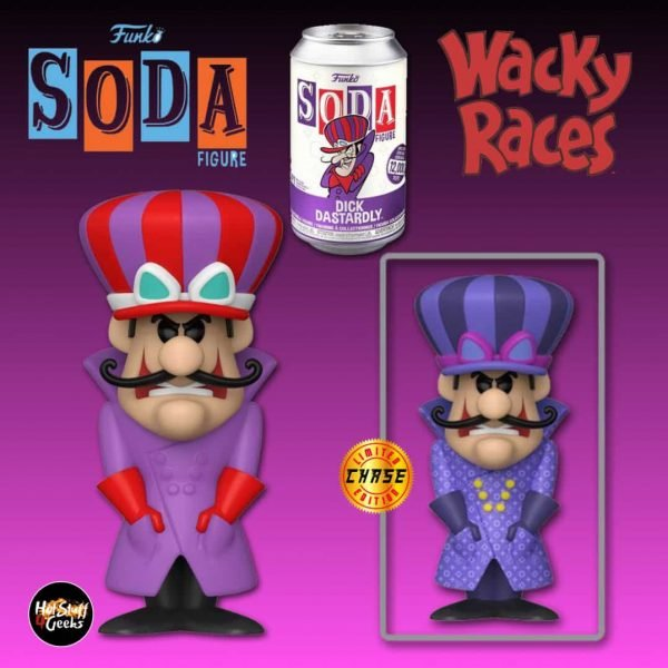 Funko Vinyl Soda: Hanna Barbera - Wacky Races: Dick Dastardly with  Chase Variant Vinyl Soda Figure