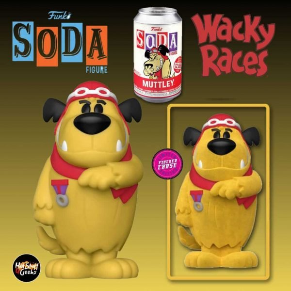 Funko Vinyl Soda: Hanna Barbera - Wacky Races: Muttley With  Flocked Chase Variant Vinyl Soda Figure