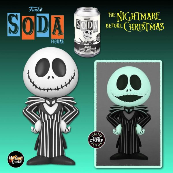 Funko Vinyl Soda: The Nightmare Before Christmas - Jack Skellington Glow-In-The-Dark (GITD) Chase Variant Vinyl Soda Figure
