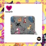 Loungefly Disney Cats All Over Print Zip-Around Wallet