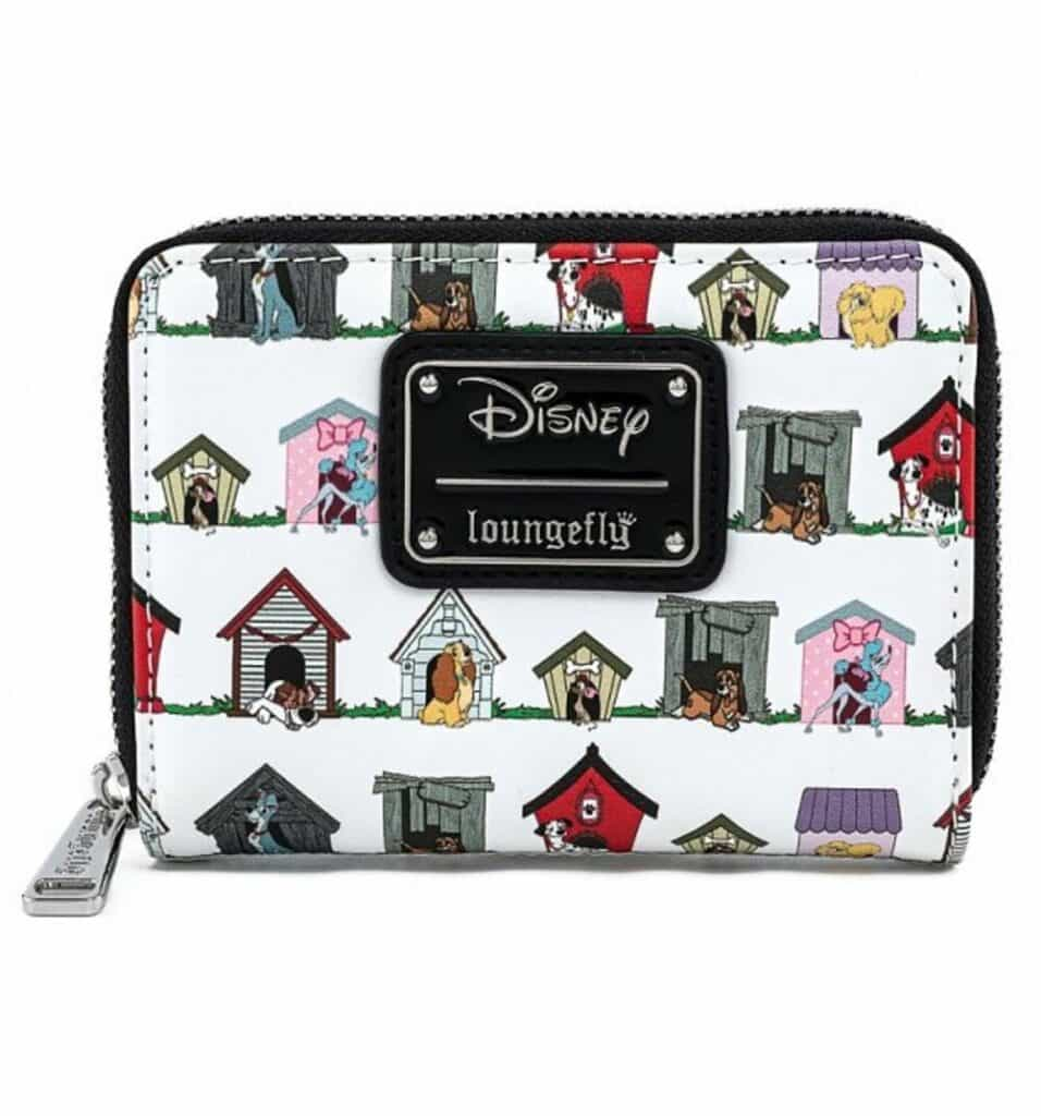 Loungefly Disney Dog Houses All Over Print Zip-Around Wallet