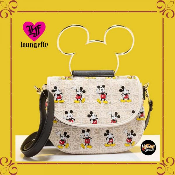 Loungefly Disney Mickey Mouse Hardware AOP Crossbody Bag Purse