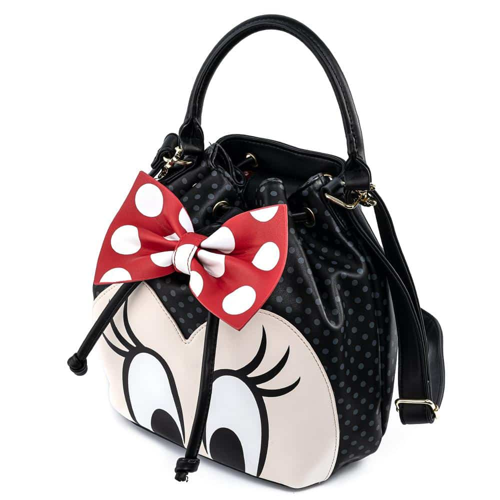 Loungefly Disney Minnie Mouse Bow Closeup Bucket Purse