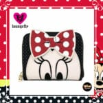 Loungefly Disney Minnie Mouse Closeup Bow Zip-Around Wallet