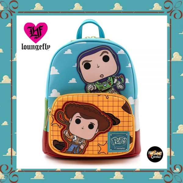 Loungefly Disney Pixar: Toy Story Funko Pop Buzz & Woody Mini Backpack by Loungefly