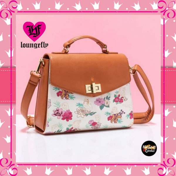 Loungefly Disney Princess Floral Crossbody Purse