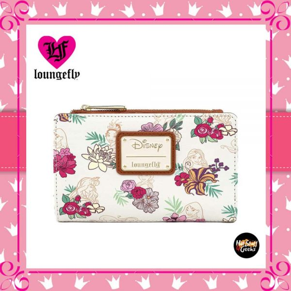 Loungefly Disney Princess Floral Flap Wallet