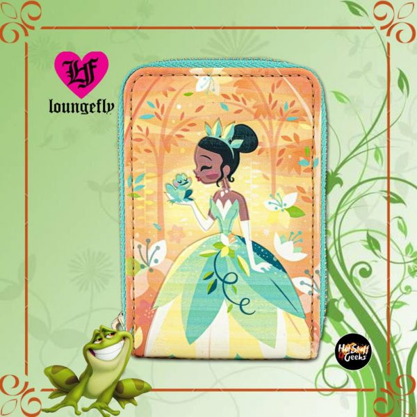 Loungefly Disney Princess and the Frog Tiana Naveen Kiss Zip-Around Wallet