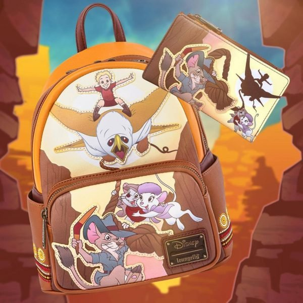 Loungefly Disney Rescuers Down Under Scene Flap Wallet and Mini-Backpack