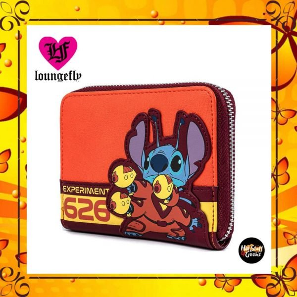 Loungefly Disney's Lilo And Stitch: Experiment 626 Cosplay Zip Around Wallet by Loungefly