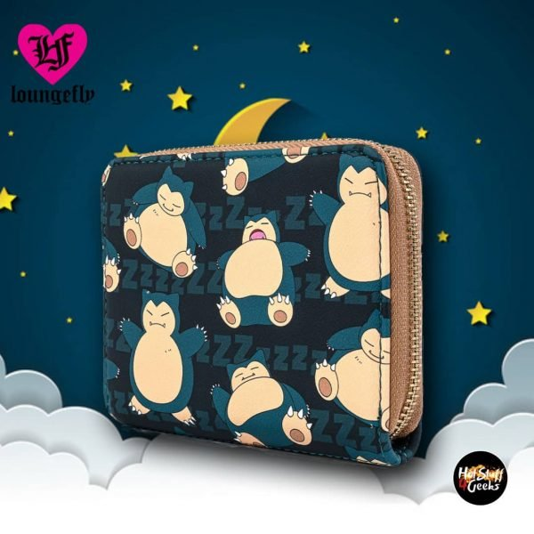 Loungefly Pokemon Snorlax Zip-Around Wallet
