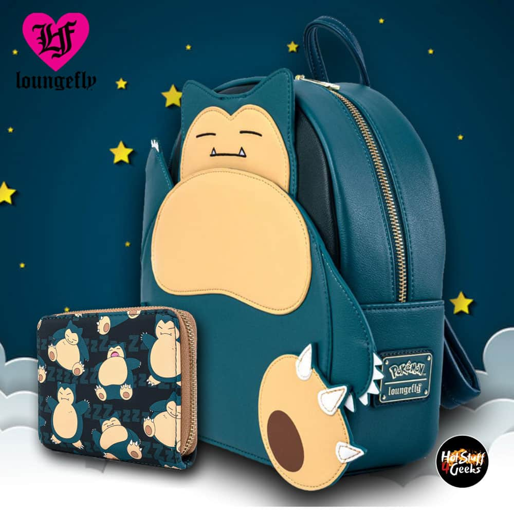 Loungefly Pokemon Snorlax Cosplay Mini-Backpack and Wallet