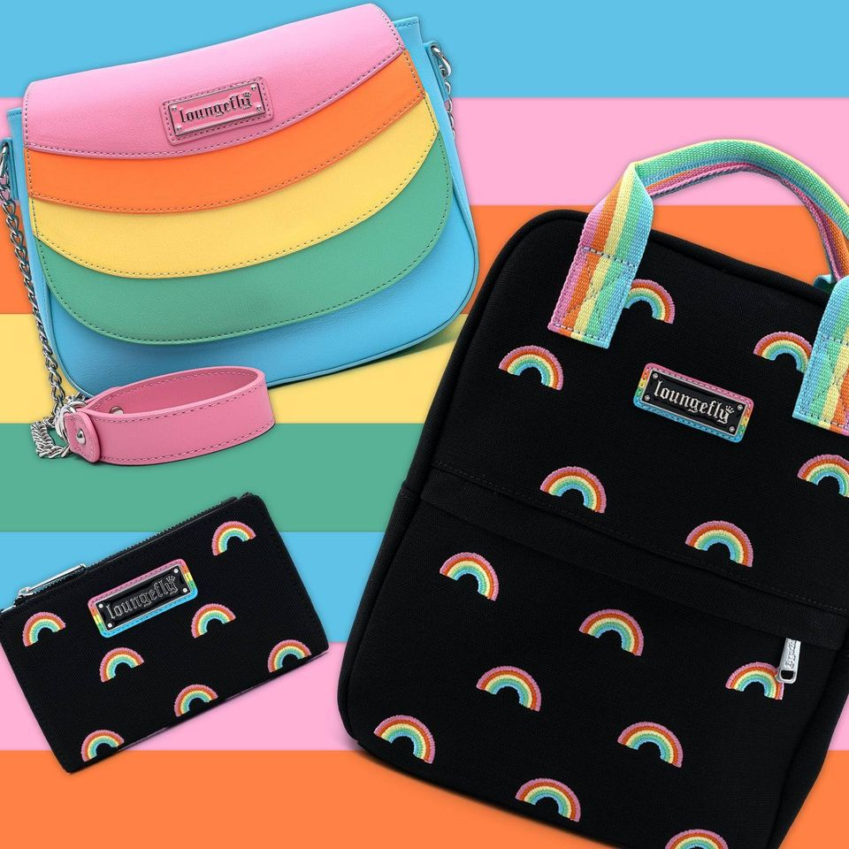 Loungefly Pride Rainbows wallet, Mini Backpack, Cardholder and Crossbody Purse