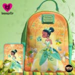 Loungefly Princess and the Frog Tiana Naveen Kiss Mini Backpack and Wallet
