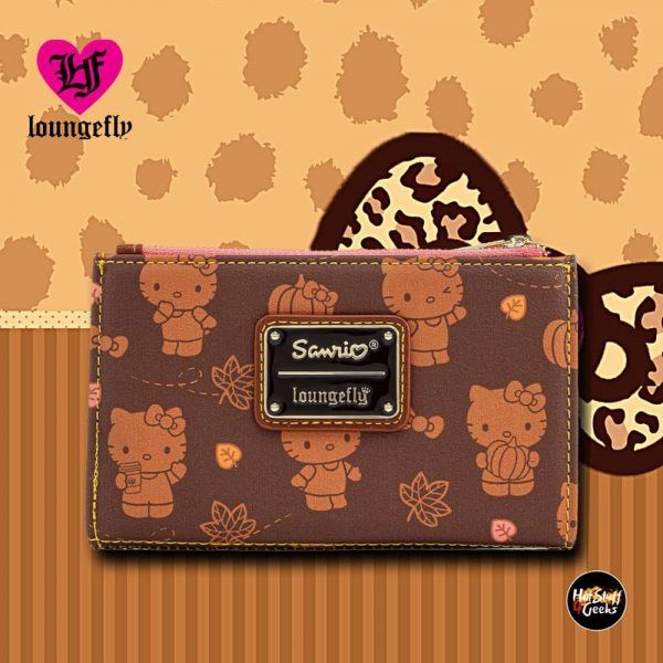 Loungefly Sanrio Hello Kitty Pumpkin Spice Flap Wallet