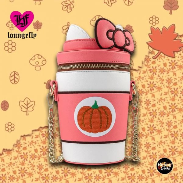 Loungefly Sanrio Hello Kitty Pumpkin Spice Latte Cup Crossbody Purse
