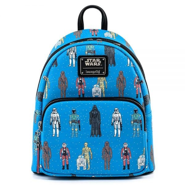 Loungefly Star Wars Action Figures Print Mini-Backpack