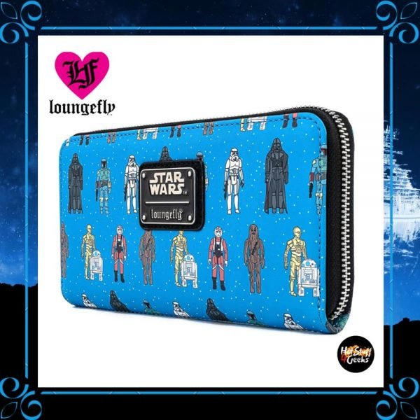 Loungefly Star Wars Action Figures Print Zip-Around Wallet