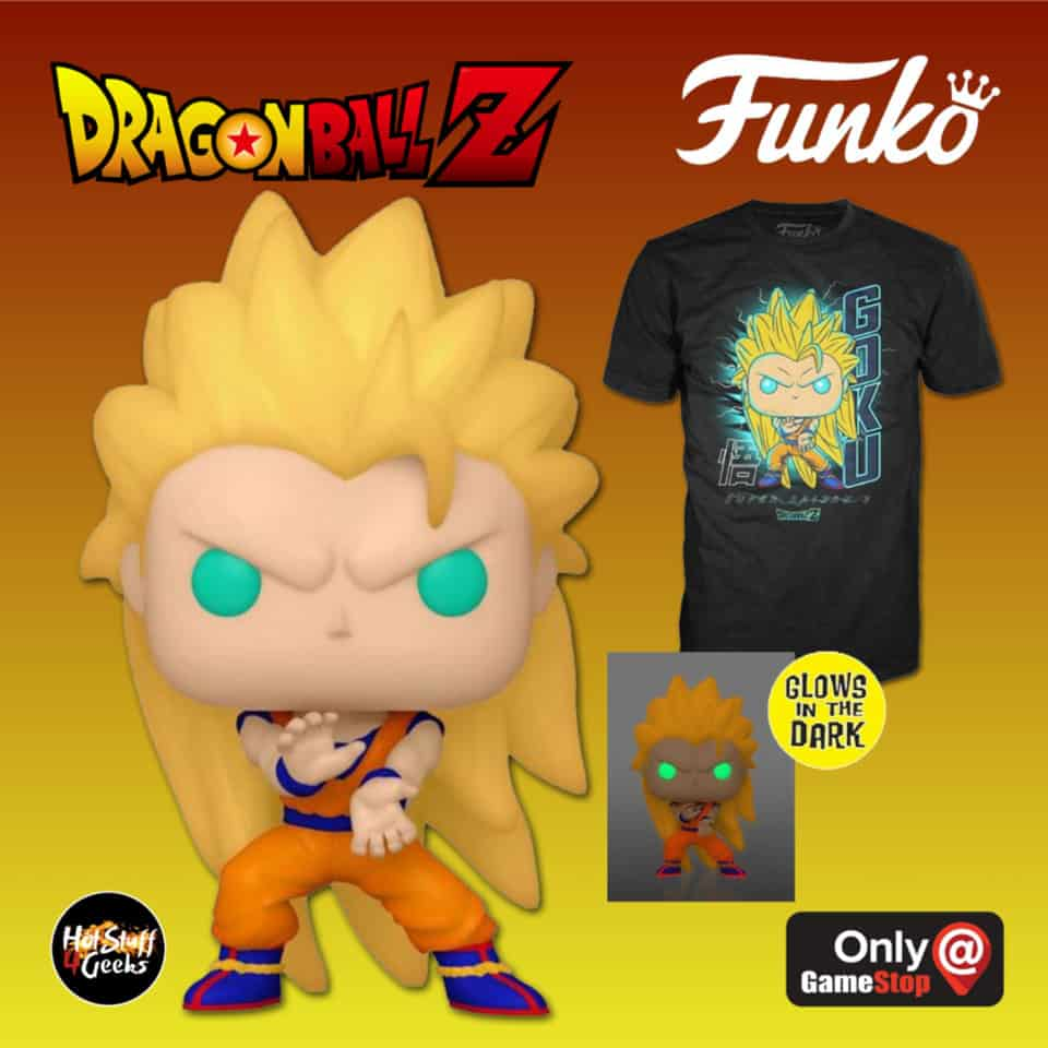 Funko POP! and Tee: Dragon Ball Z - Super Saiyan 3 Goku Glow In the Dark (GITD) Funko Pop! Vinyl Figure and T-Shirt Bundle - GameStop Exclusive