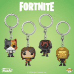 Fortnite TNTina, The Scientist and Midas Metallic Pocket Pop! Key Chain