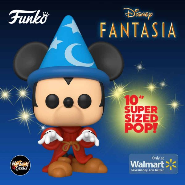 Funko POP! Disney: Fantasia 80th Anniversary - 10-inch Sorcerer Mickey Jumbo Super Sized Funko Pop! Vinyl Figure - Walmart Exclusive
