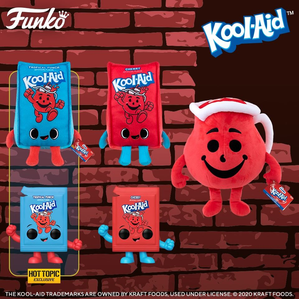 Funko Pop! Ad Icons: Kool Aid - Original Kool Aid Packet (Cherry) and Original Kool Aid Packet (Tropical Punch) Hot Topic Exclusive Funko Pop! Vinyl Figures