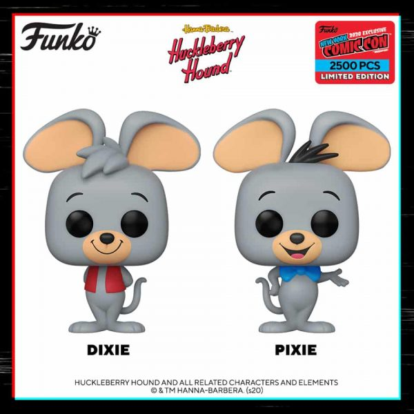 Funko Pop! Animation: Hanna Barbera Huckleberry Hound - Dixie and Pixie Funko Pop! Vinyl Figures - Funko Shop and NYCC 2020 Shared Exclusives