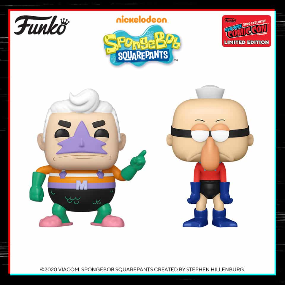 Funko Pop! Animation: Nickelodeon SpongeBob SquarePants - Mermaidman and Barnacleboy Funko Pop! Vinyl Figure - Entertainment Earth and NYCC 2020 Shared Exclusives