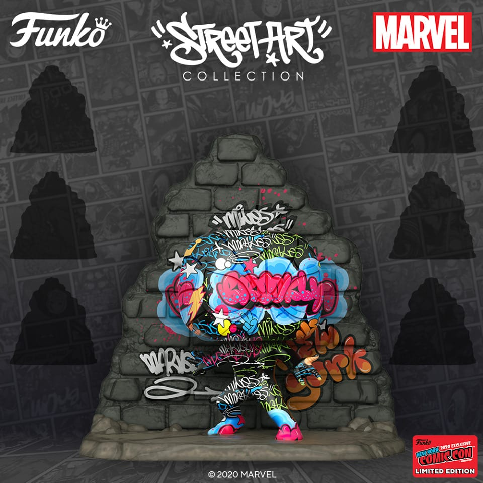 Funko Pop! Deluxe: Marvel Street Art Collection – Miles Morales Funko Pop! Vinyl Figure - GameStop and NYCC 2020 Shared Exclusive