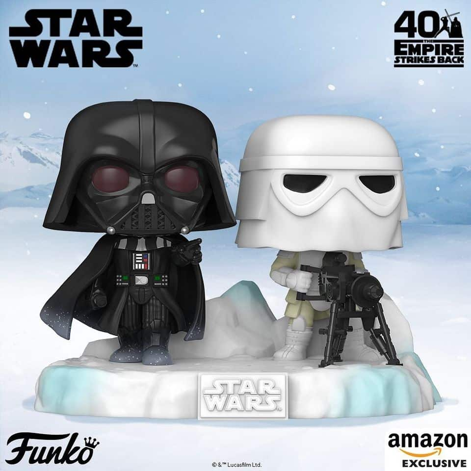 Funko Pop! Deluxe: Star Wars Episode V: The Empire Strikes Back 40th Anniversary - Battle at Echo Base: Darth Vader and Snowtrooper Funko Pop! Vinyl Figure  - Amazon Exclusive Diorama - Figure 6 of 6
