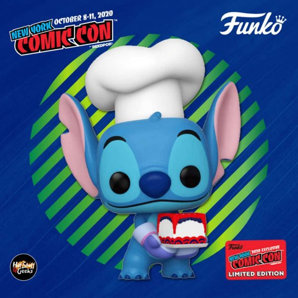 Funko Pop! Disney Lilo & Stitch: Stitch as Baker Funko Pop! Vinyl Figure - Fye and NYCC 2020 Shared Exclusive