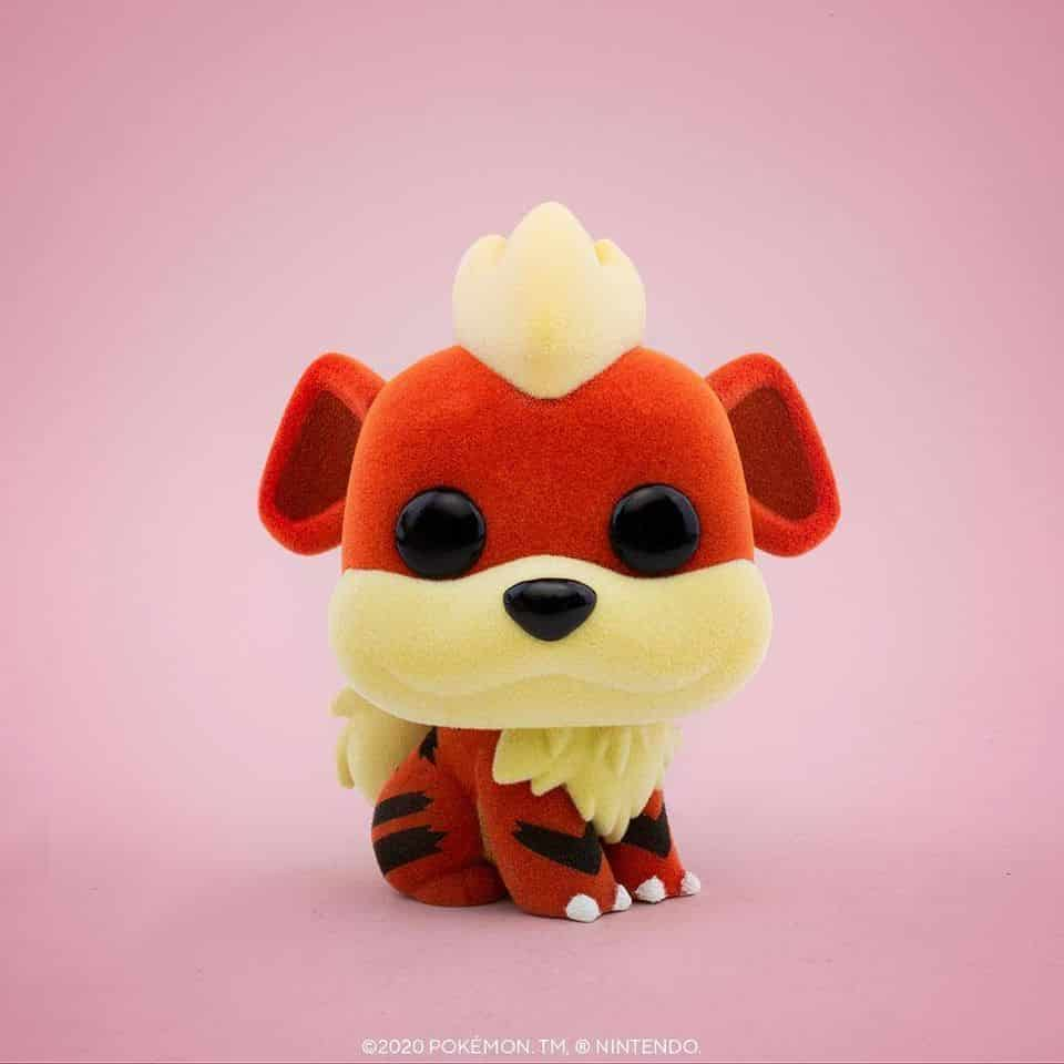 Funko Pop! Games: Pokemon - Flocked Growlithe Funko Pop! Vinyl Figure - BoxLunch and NYCC 2020 Shared Exclusive