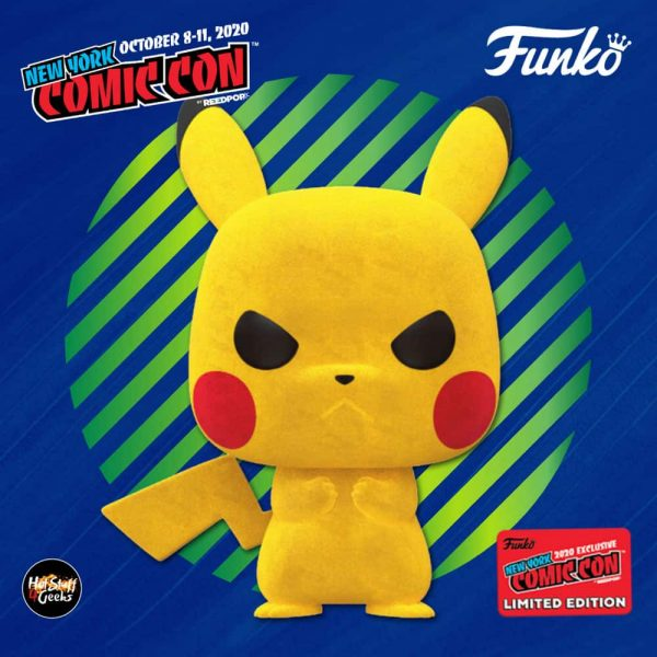 Funko Pop! Games: Pokemon - Flocked Pikachu Funko Pop! Vinyl Figure - Target and NYCC 2020 Shared Exclusive