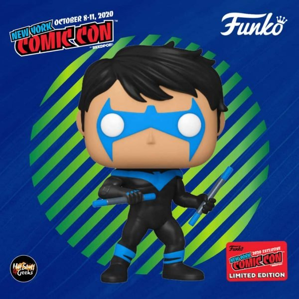Funko Pop! Heroes: Batman DC Comics: Nightwing Funko Pop! Vinyl Figure - Hot Topic and NYCC 2020 Shared Exclusive