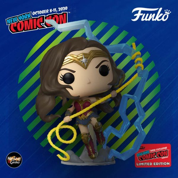 Funko Pop! Heroes: DC Wonder Woman - WW 84: Wonder Woman Glow in The Dark (GITD) Funko Pop! Vinyl Figure - Barnes & Noble and NYCC 2020 Shared Exclusive