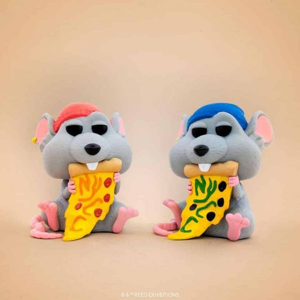 Funko Pop! Icons: New York Comic Con - Pizza Rat with Blue Hat and Pizza Rat with Orange Hat - NYCC 2020 and Funko Shop Shared Exclusive