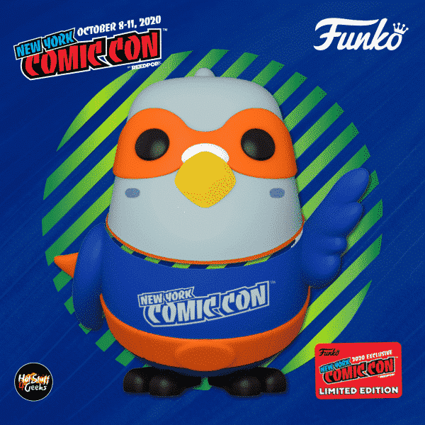 Funko Pop! Icons: New York Comic Con - Paulie Pigeon Blue/Orange Funko Pop! Vinyl Figure - Funko Shop and NYCC 2020 Funko Shop Shared Exclusive