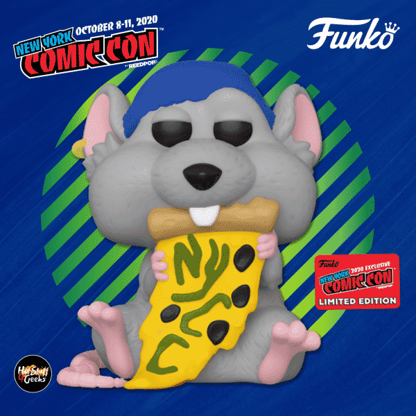 Funko Pop! Icons: New York Comic Con - Pizza Rat with Blue Hat Funko Pop! Vinyl Figure - Funko Shop and NYCC 2020 Funko Shop Shared Exclusive
