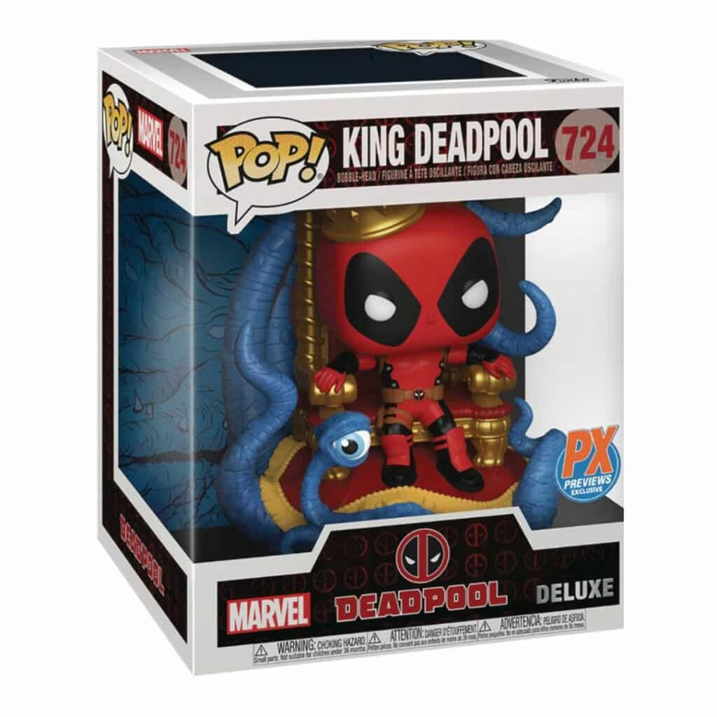 Funko Pop! Marvel Heroes: King Deadpool On Throne 6-Inch Funko Pop! Vinyl Figure - Previews Exclusive