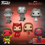 Funko Pop! Marvel Studios WandaVision - 70s Wanda, Halloween Vision, Halloween Wanda, 50s Wanda Black & White, 50s Vision Black & White With Chase, and 70s Vision (GameStop Exclusive) Funko Pop! Vinyl Figures