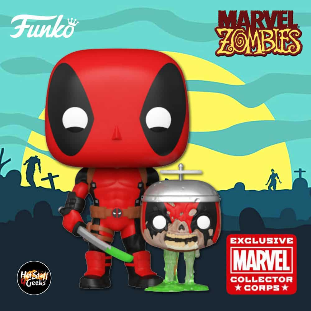 Funko Pop! Marvel Zombies – Deadpool With Headpool Funko Pop! Vinyl Figure – Marvel Collector Corps Exclusive