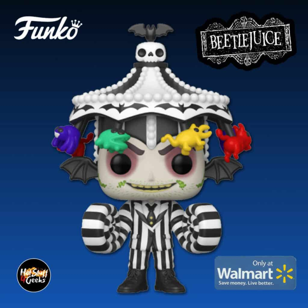 Funko Pop! Movies: Beetlejuice - Beetlejuice with Carousel Hat Funko Pop! Vinyl Figure - Walmart Exclusive
