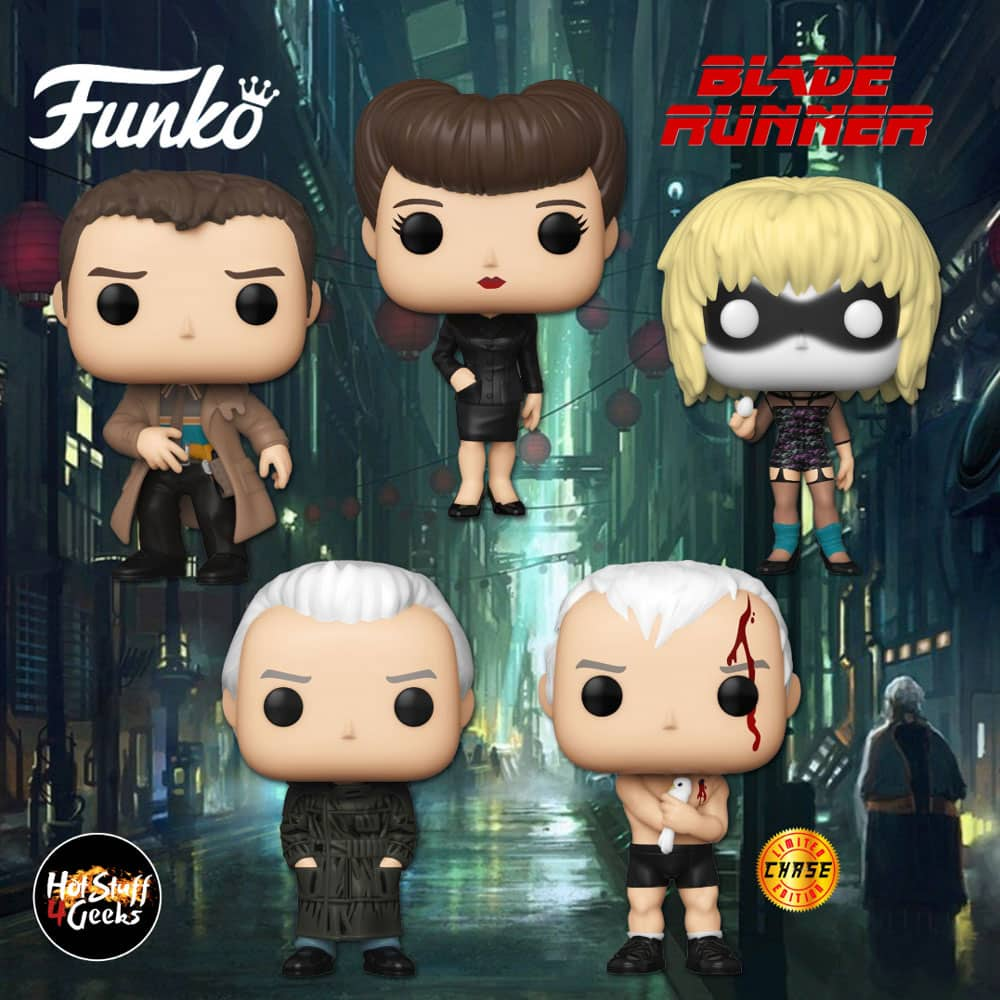 Funko Pop! Movies: Blade Runner - Rachael, Rick Deckard, Pris Funko and Roy Batty with Chase Variant Pop! Vinyl Figures