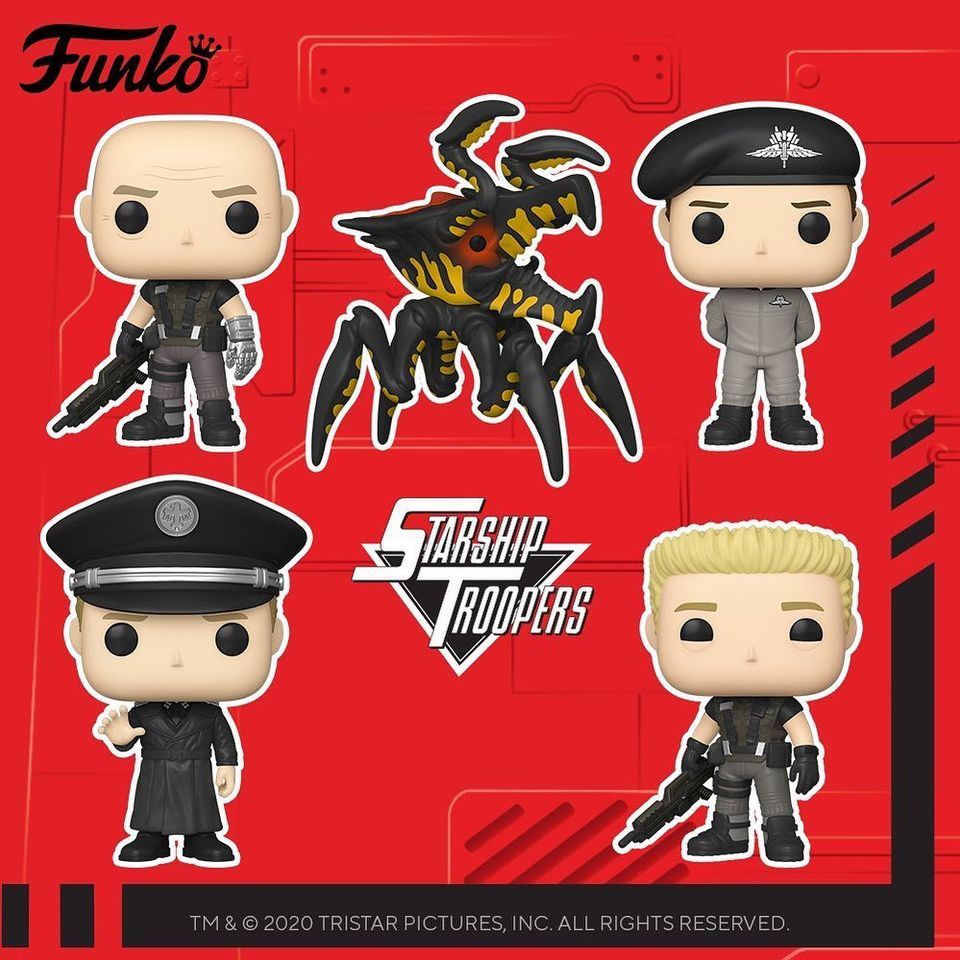 Funko Pop! Movies: Starship Troopers - Warrior Bug, Ace Levy, Carl Jenkins, Johnny Rico In Jumpsuit and Jean Rasczak Funko Pop! Vinyl Figures